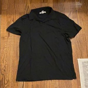 Kenneth Cole black polo shirt, size large